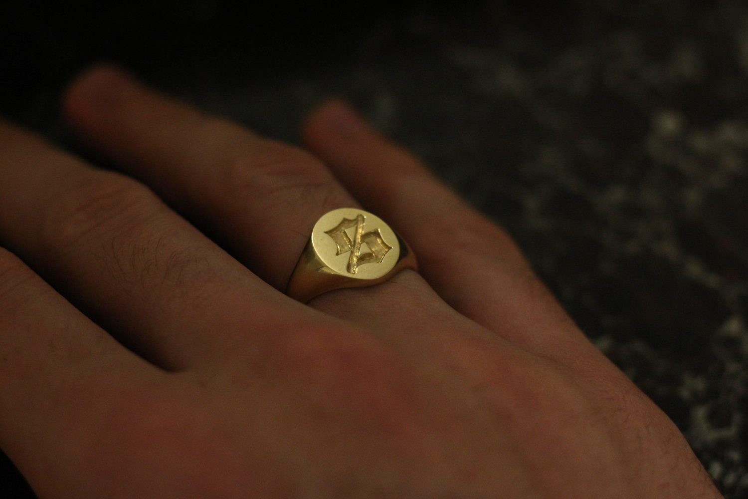 Initials Gold Rings