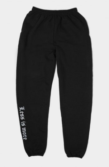 Set Less Is More Joggers Black