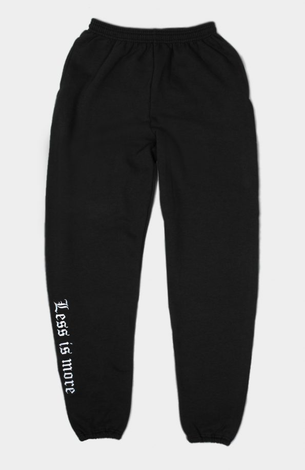Set Less is more Joggers (Black)