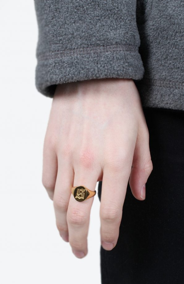 set signet ring gold