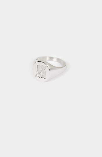 Set Silver Signet Ring