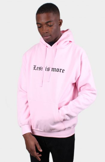 Less is more Pink Pastel Hoody