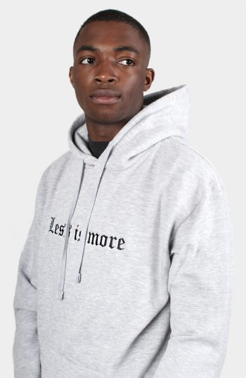 SET STORE less is more hoody grey