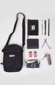 SET Store Utility Passport Bag Black