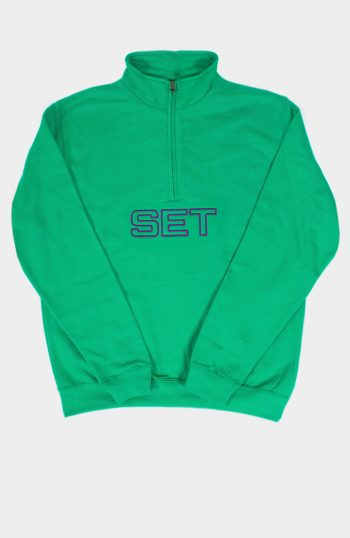 Set 1/2 Zip Sweatshirt Green