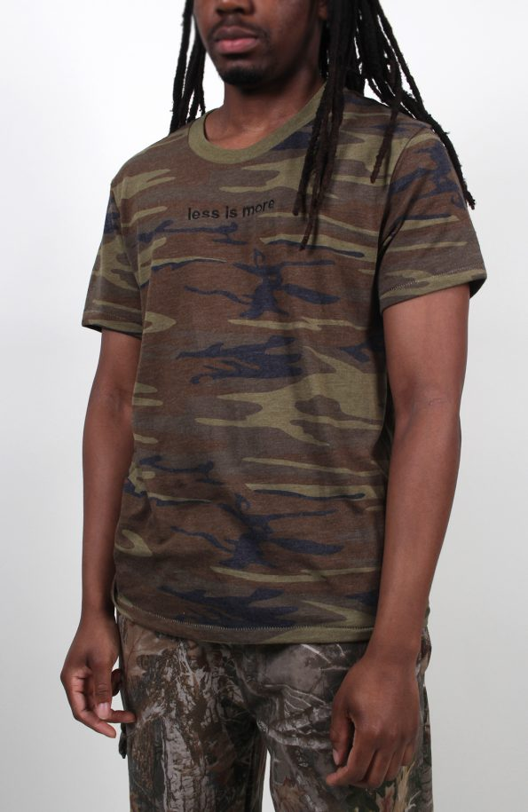 set store eco tshirt camo less is more