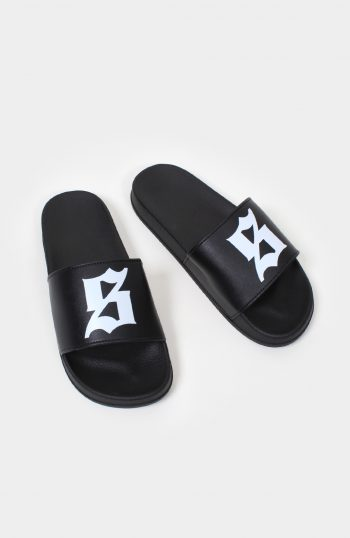 Set S Logo Sliders Black
