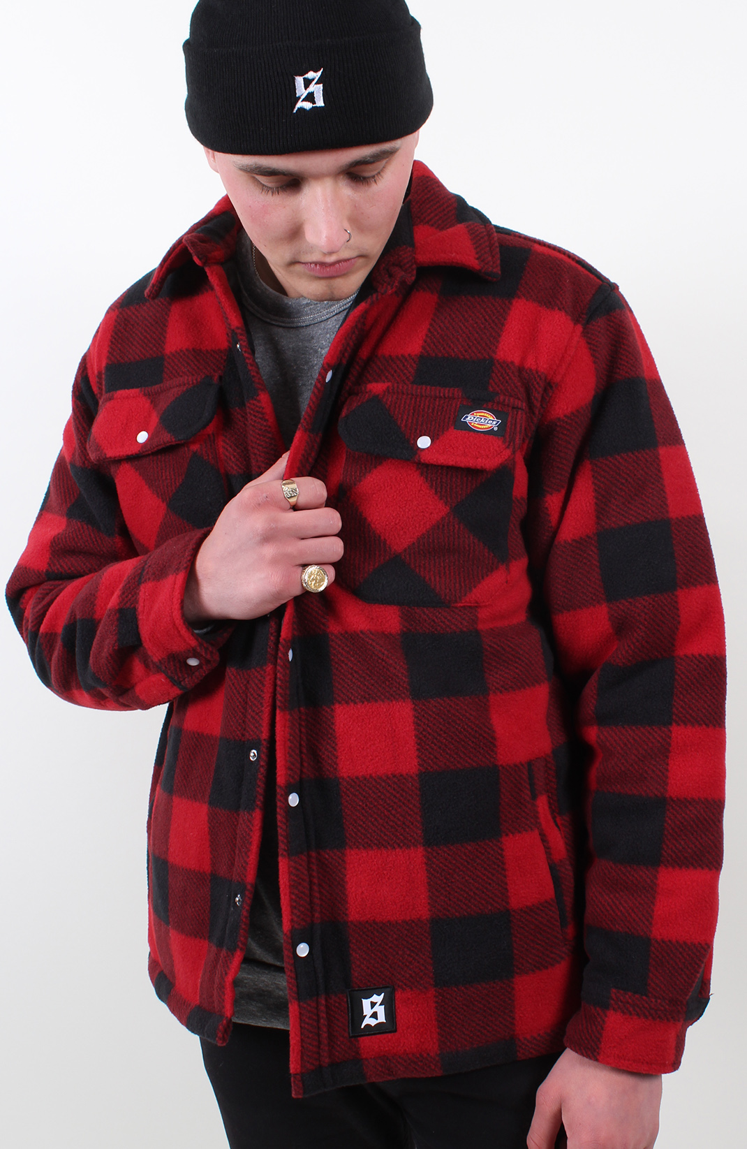 Set Dickies Flannel Shirt Red Exclusive To Set Store