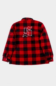 set flannel shirts red
