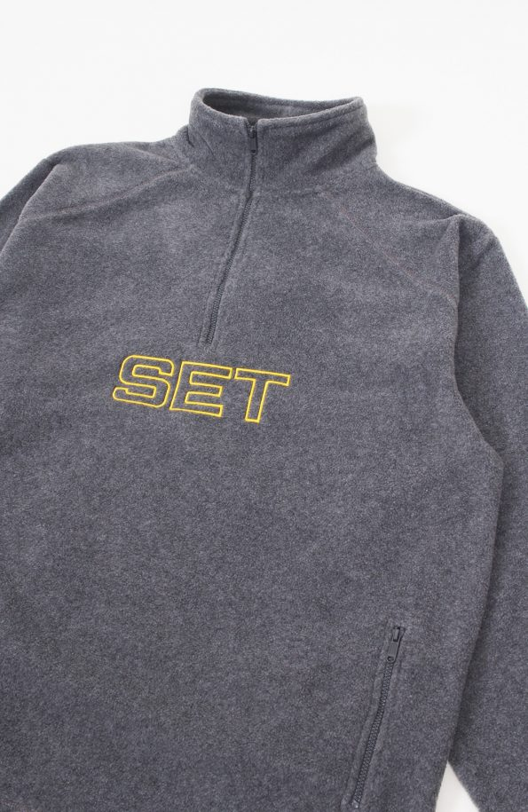 set grey fleece jacket