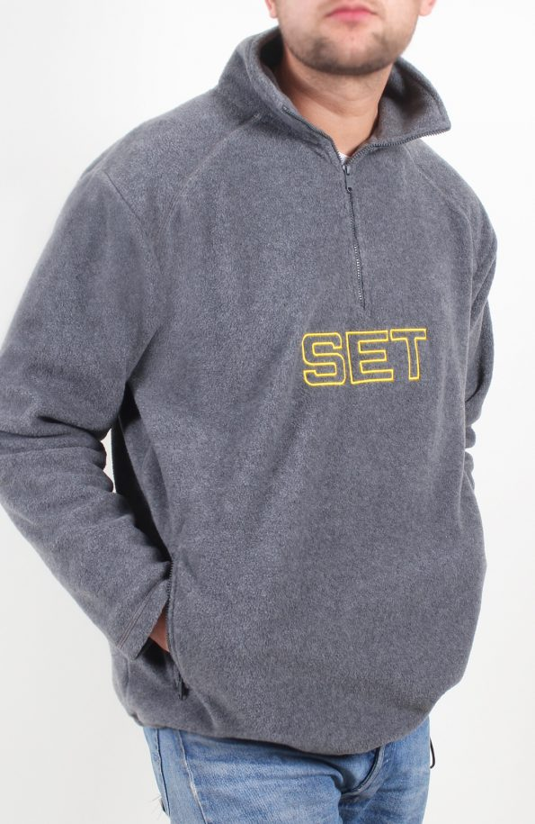 set 1/2 zip fleece jacket