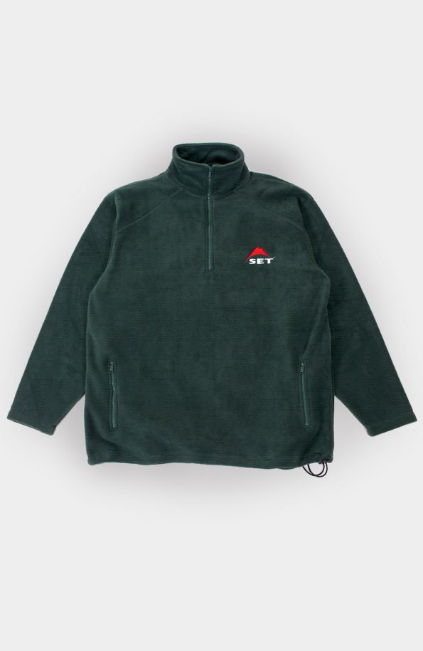 set mountain logo fleece jacket