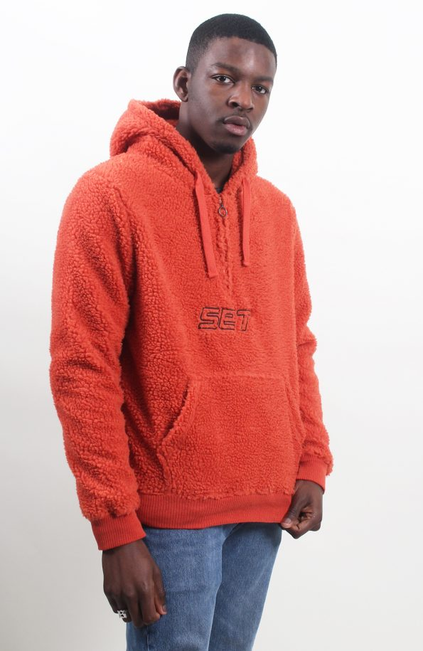 set sherpa jacket orange